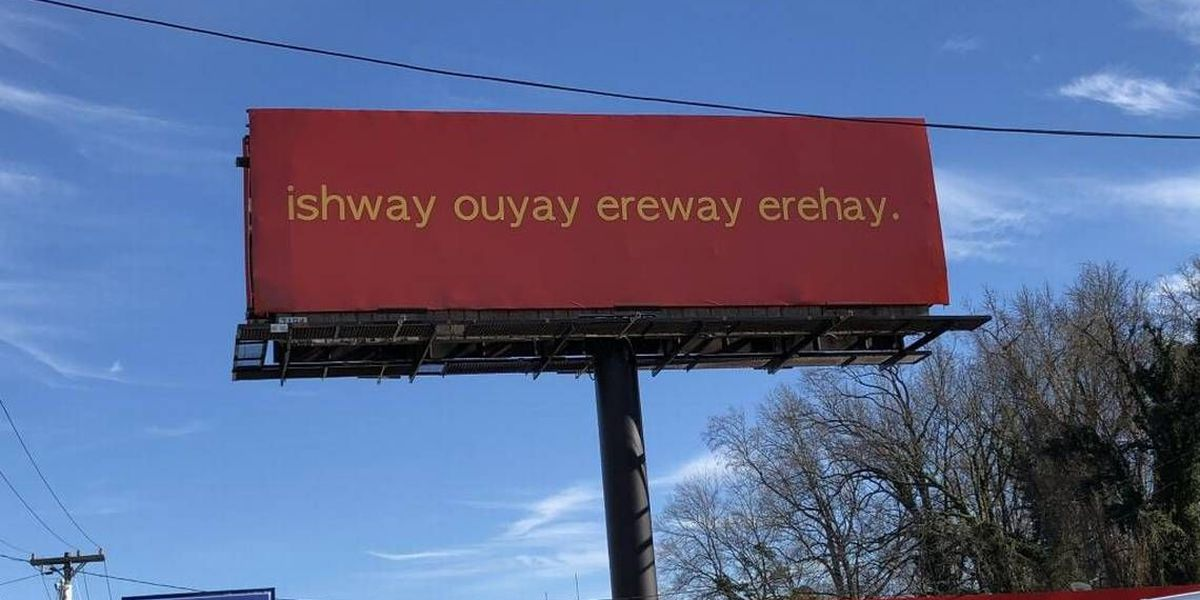 What's the deal with this billboard on Independence Blvd.?