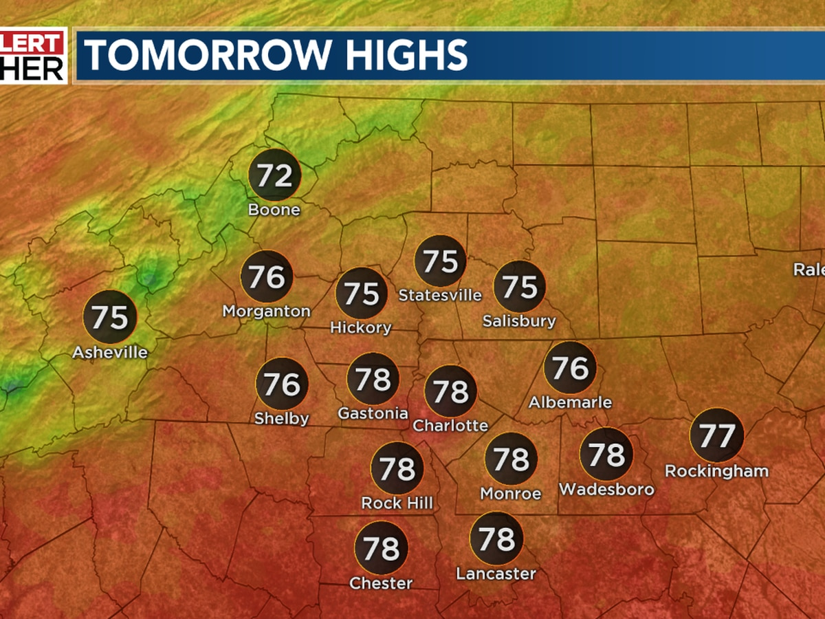 Pleasant start to the week; hot and muggy end to the week