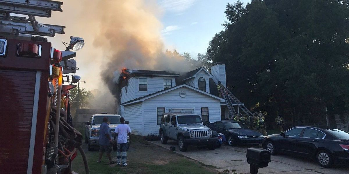 Charlotte Fire Department responds to house fire in northeast Charlotte