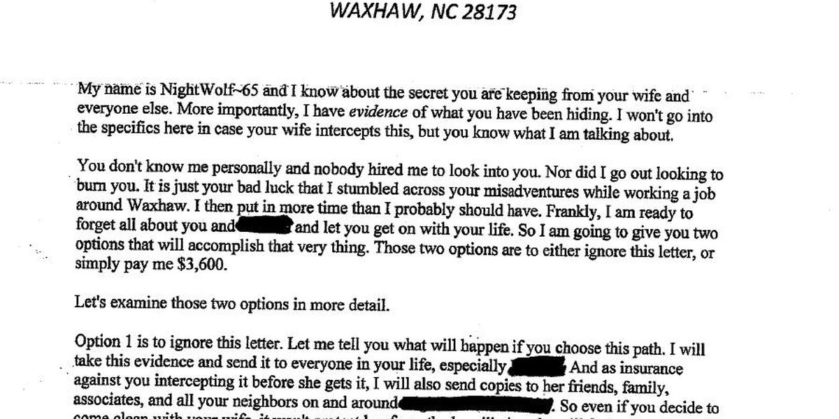 """Two reports of """"cheating spouse"""" scam in Waxhaw area"""