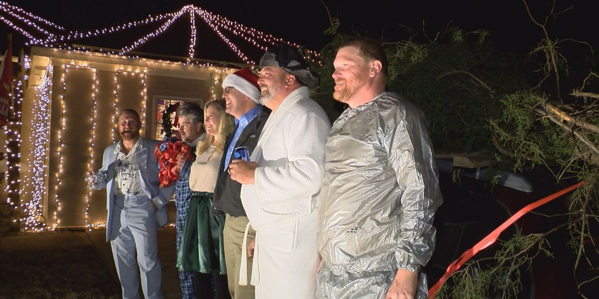 Popular Christmas movie inspires family's holiday decorations