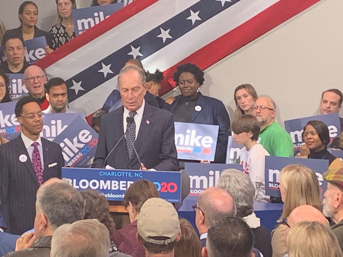 Presidential candidate Michael Bloomberg opens first field office in Charlotte