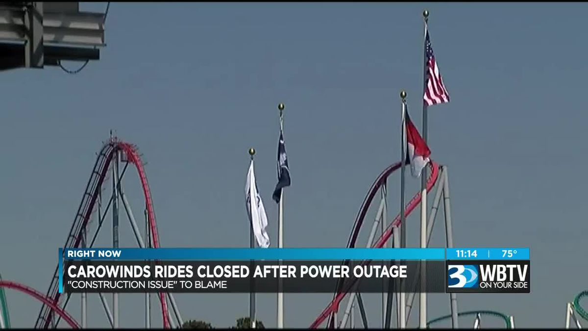 Multiple rides stopped at Carowinds due to brief power