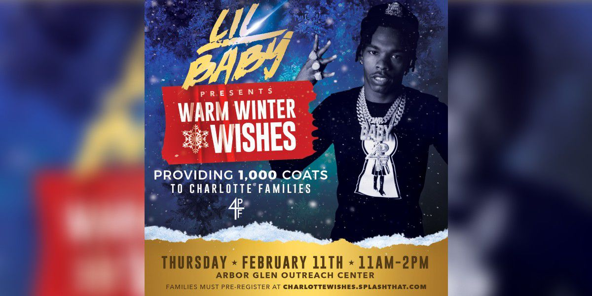 Grammy-nominated artist Lil Baby provides 1,000 coats to Charlotte families in need