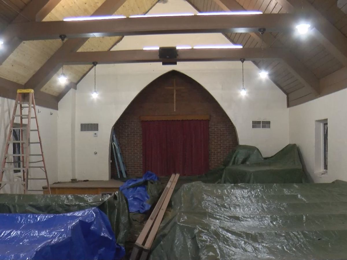 Pastor says cleanup efforts now underway after storms damaged Kings Mountain church.
