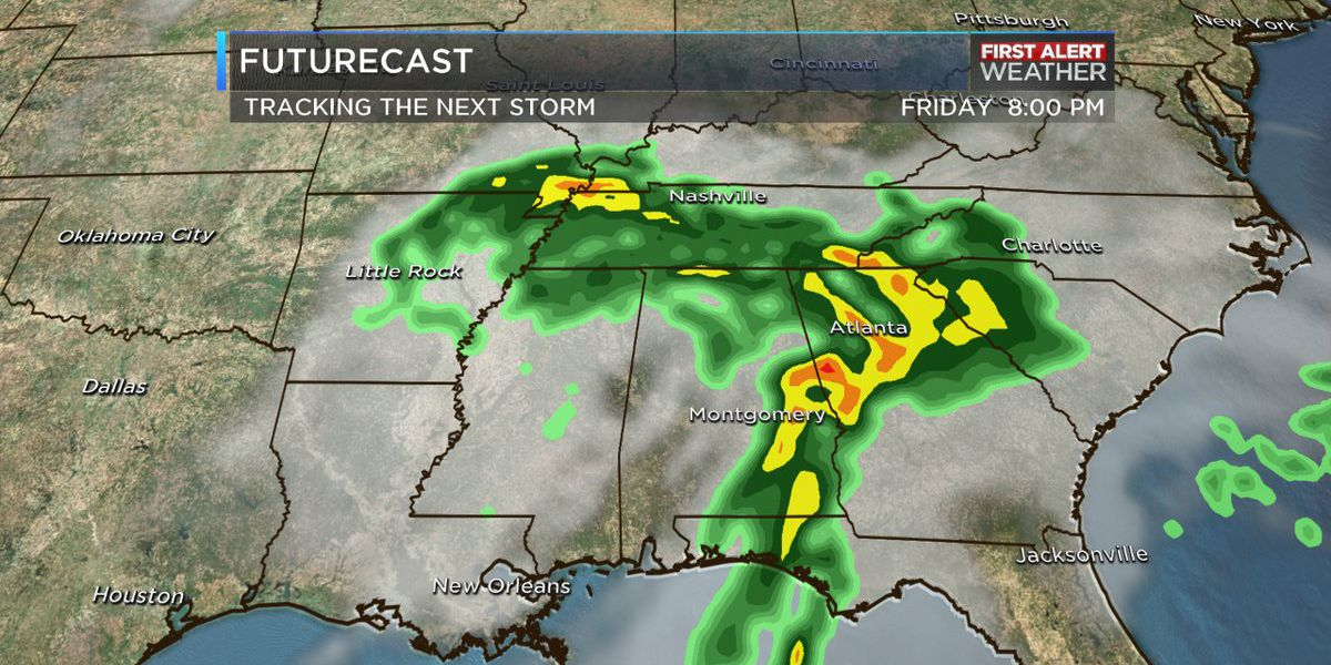 First Alert Day: Heavy rain will move into the area Friday afternoon
