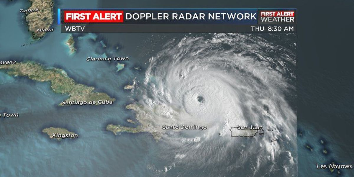 IRMA: Major cat 5 storm slightly weaker, max sustained winds still at 180 mph