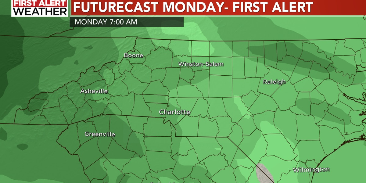 Dry for Friday and the weekend, yet a First Alert Monday with widespread rain