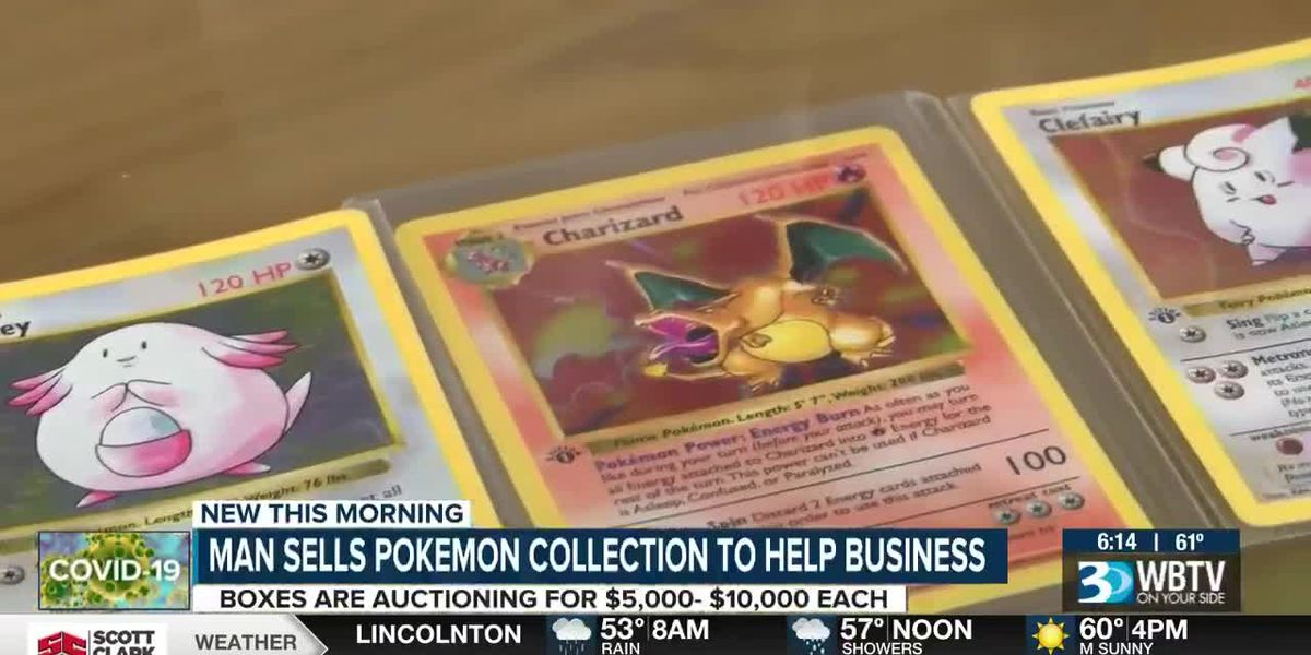 Local comic store auctions classic Pokémon trading cards worth thousands