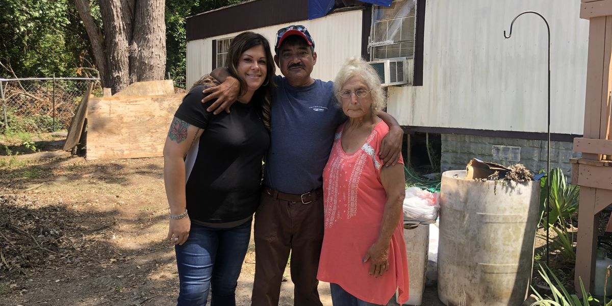 Camden community comes together to help husband, wife fix home damaged in storm