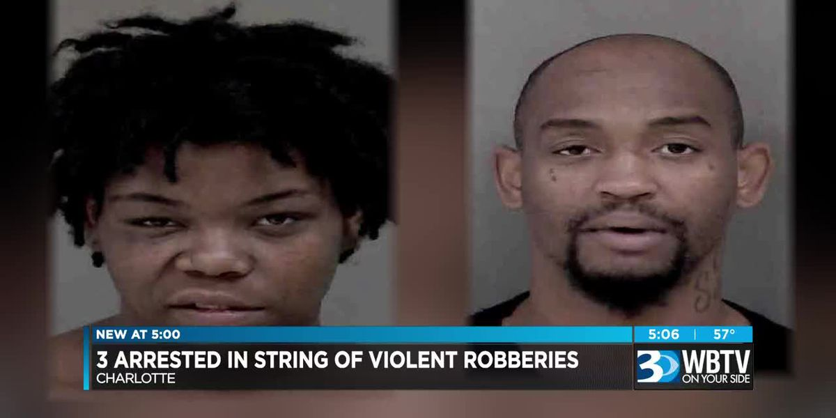 Three arrested in string of violent robberies