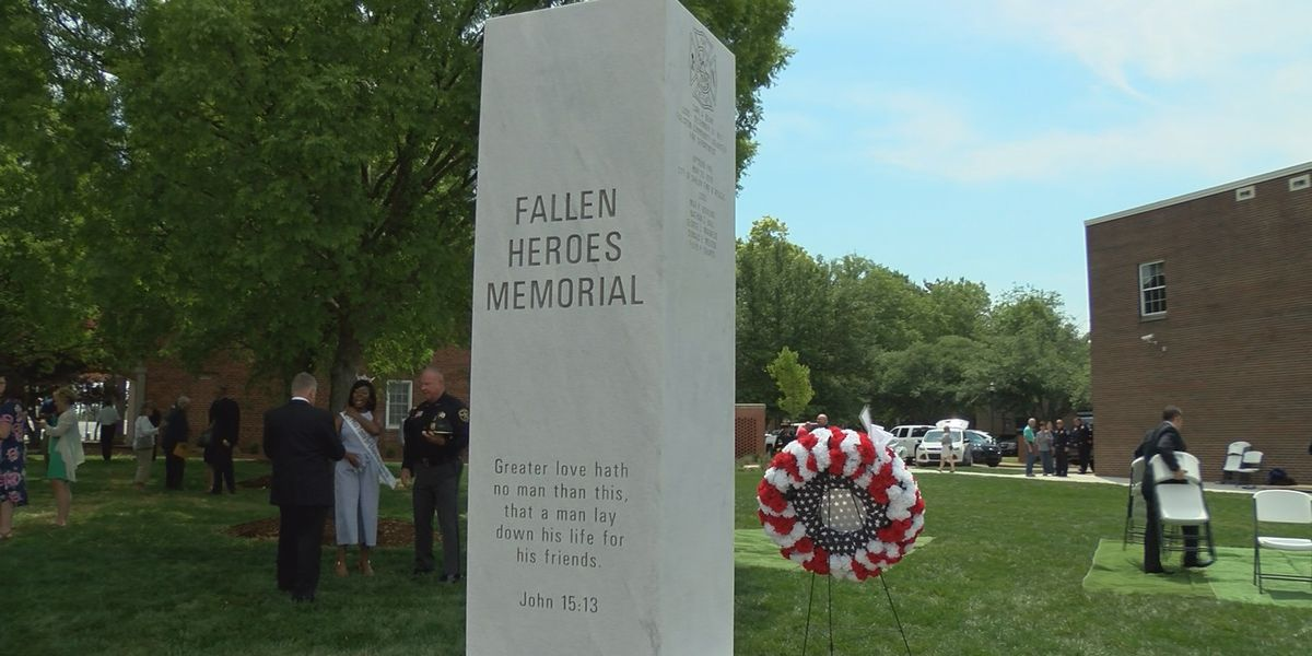 Memorial honoring fallen officers unveiled in Cleveland County