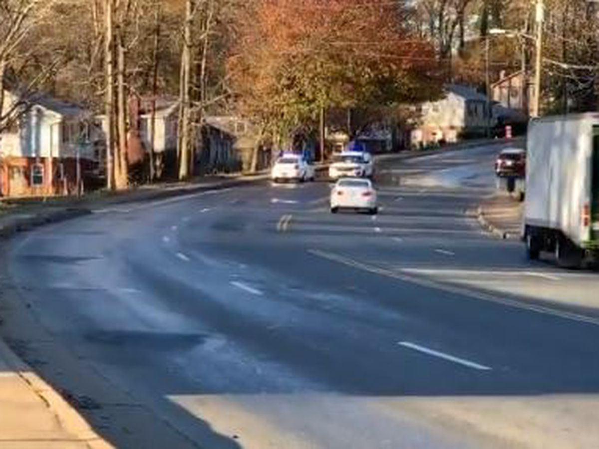 Ice from water main issue closes road in east Charlotte