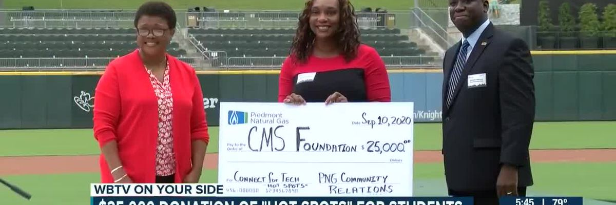 $25,000 donation of 'hot spots' for students in Charlotte