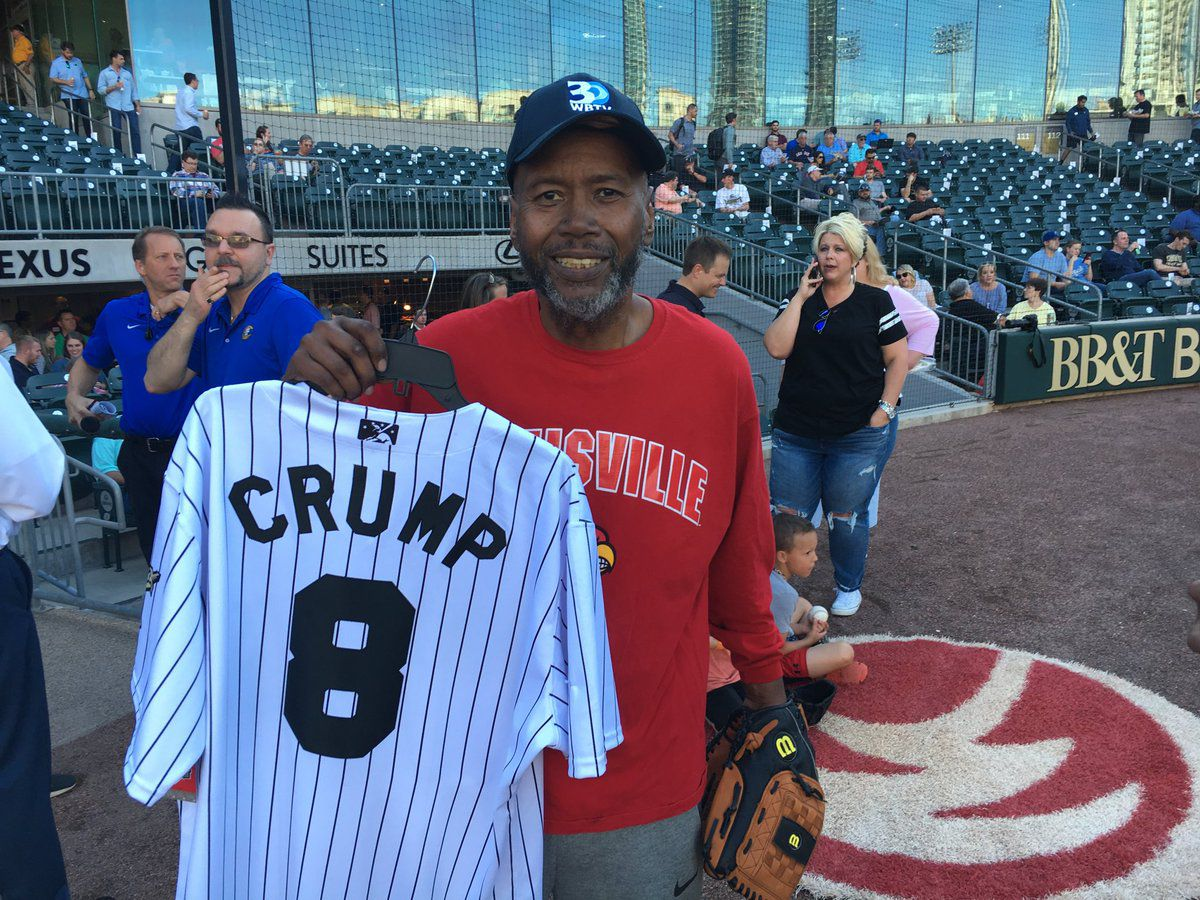 Steve Crump throws first pitch at Charlotte Knights game