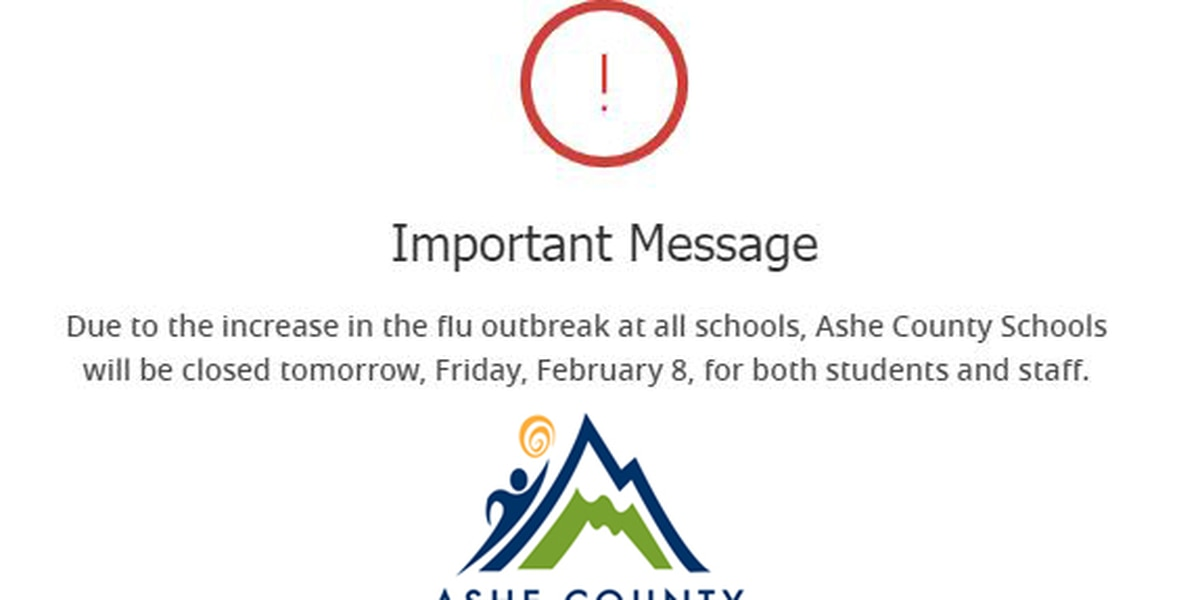 Flu outbreak forces closure of Ashe County Schools Friday