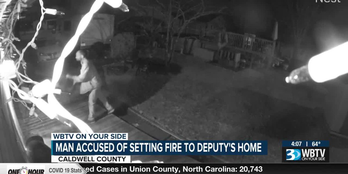 Man accused of setting fire to deputy's home in Caldwell County
