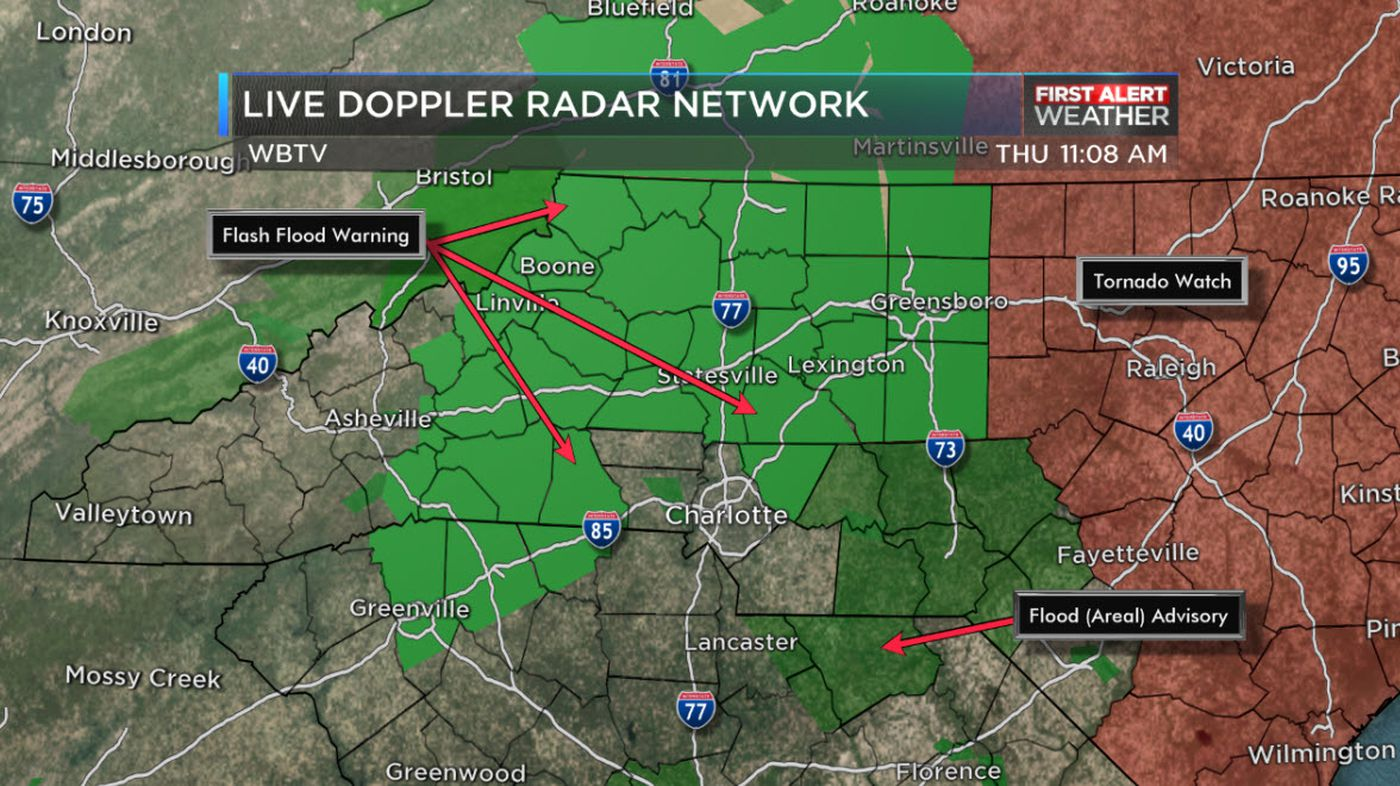 Michael's heavy rains, strong winds move through WBTV viewing area