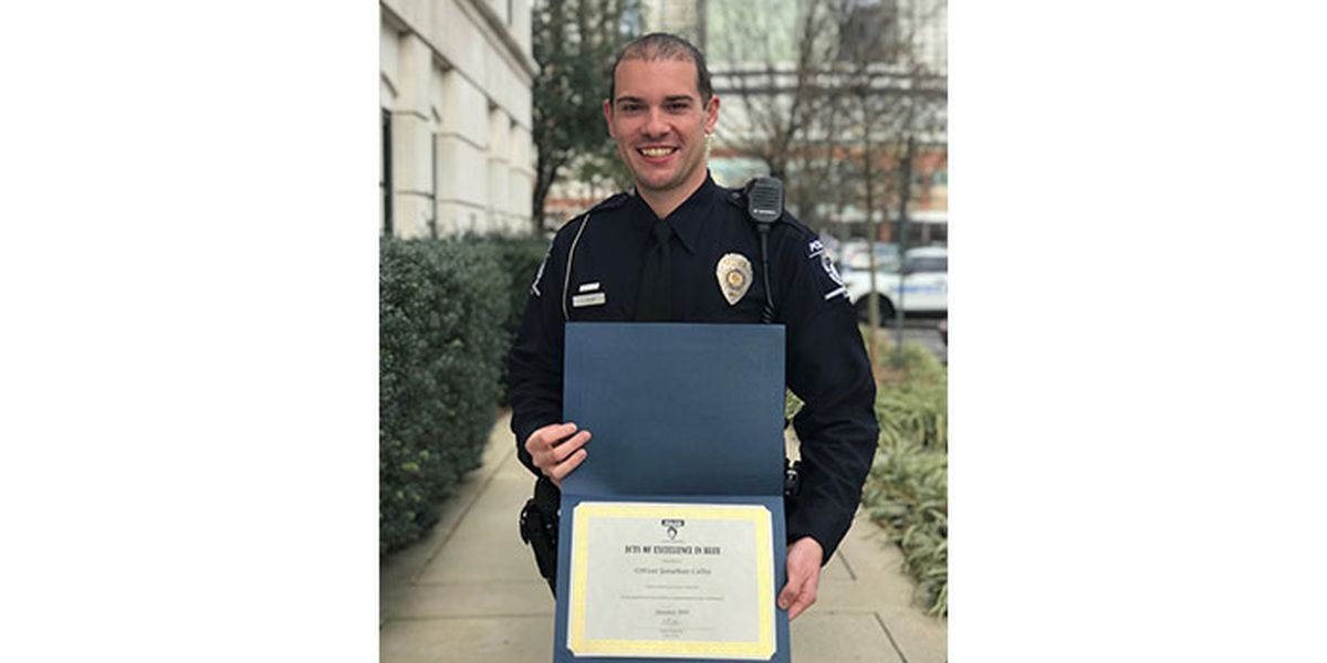 CMPD officer honored for saving woman from suicide attempt