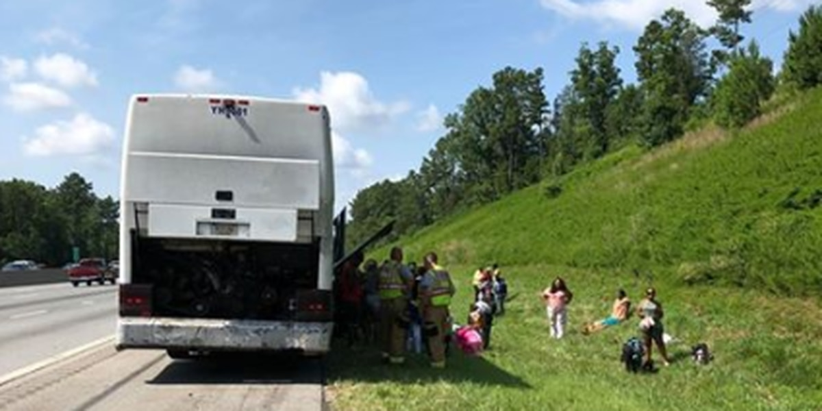 Concord first responders transport passengers from stranded bus on I-85