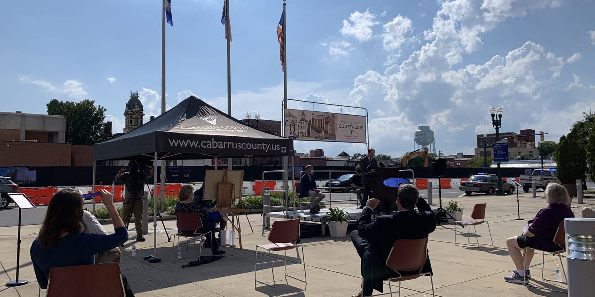 Cabarrus Courthouse project celebrated with live art, interactive displays