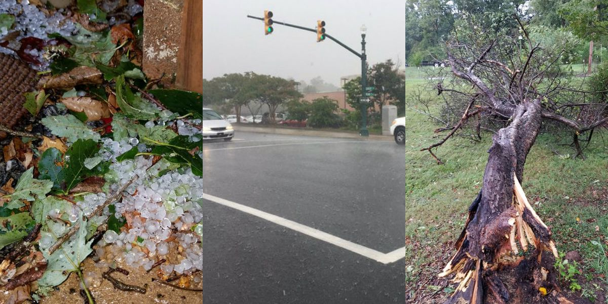 Heavy rain, hail and lightning impact Charlotte area, causing power outages and downed trees