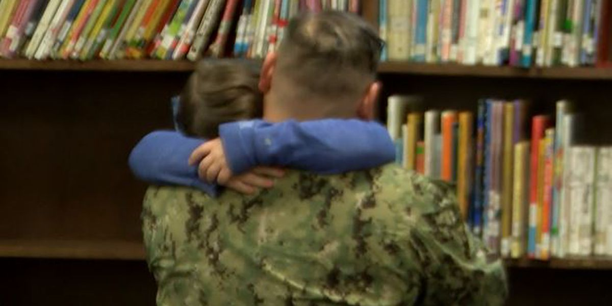 NC sailor returns home, surprises daughter at school: 'We're finally together'