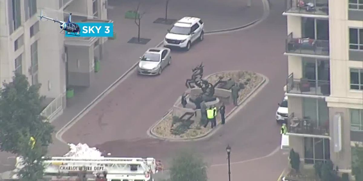 RAW VIDEO: Bomb threat near Romare Bearden Park on MLK Blvd one of several across Charlotte, country