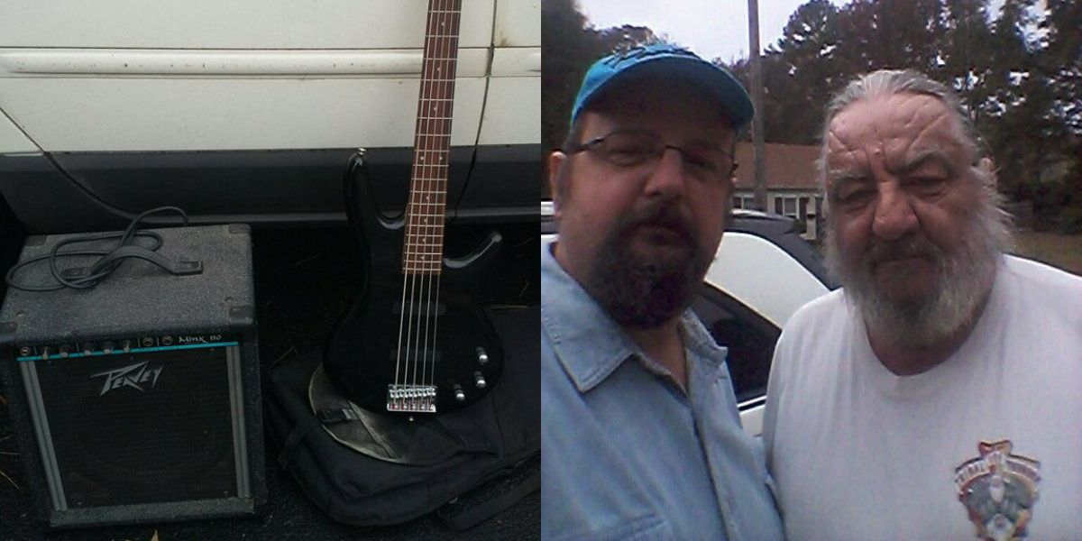 Man gives new bass guitar to N.C. musician who had instrument stolen during funeral