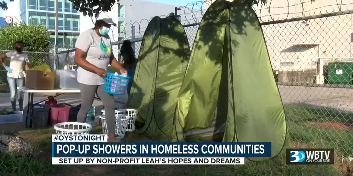 Pop-up showers appearing in Charlotte's homeless communities