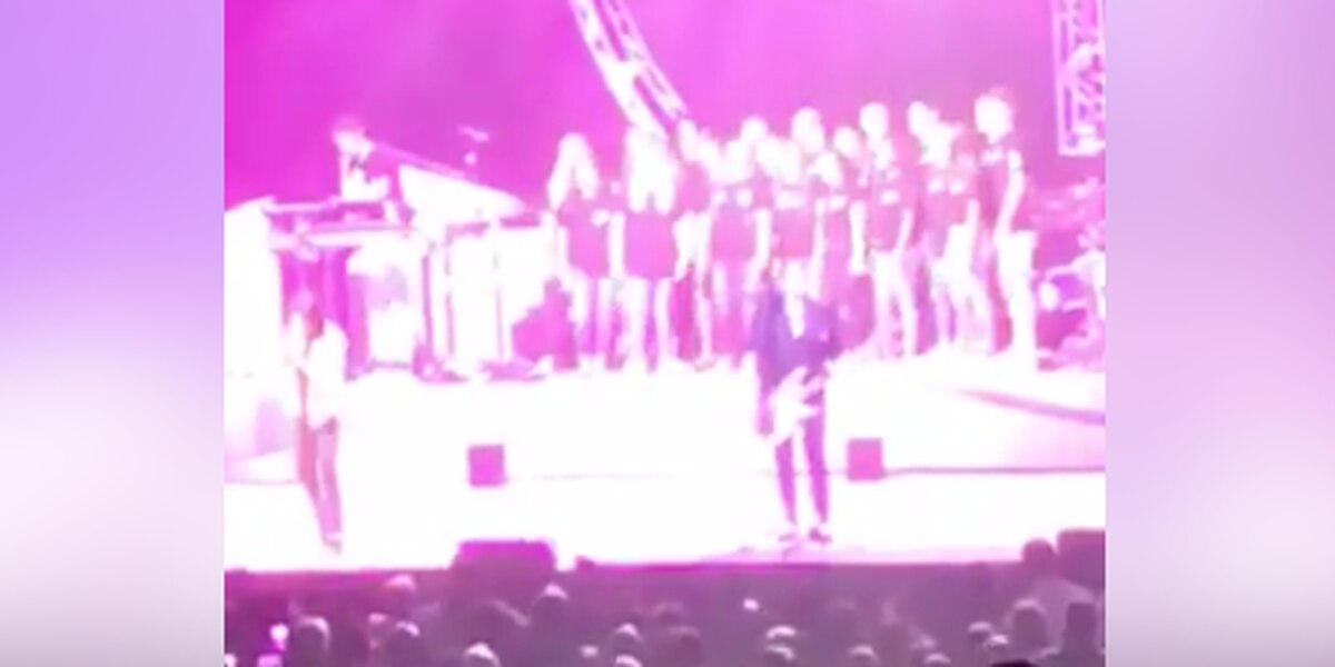 East Rowan Honors Chorus performs with Foreigner
