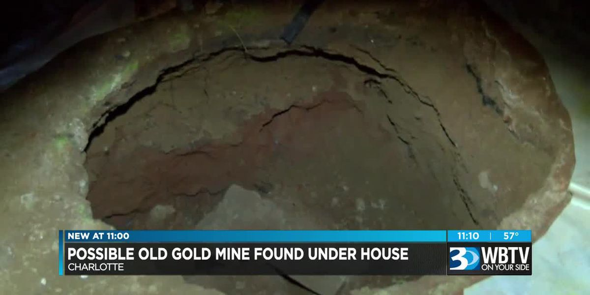 Experts say hole under Charlotte couple's home likely old mine shaft to gold
