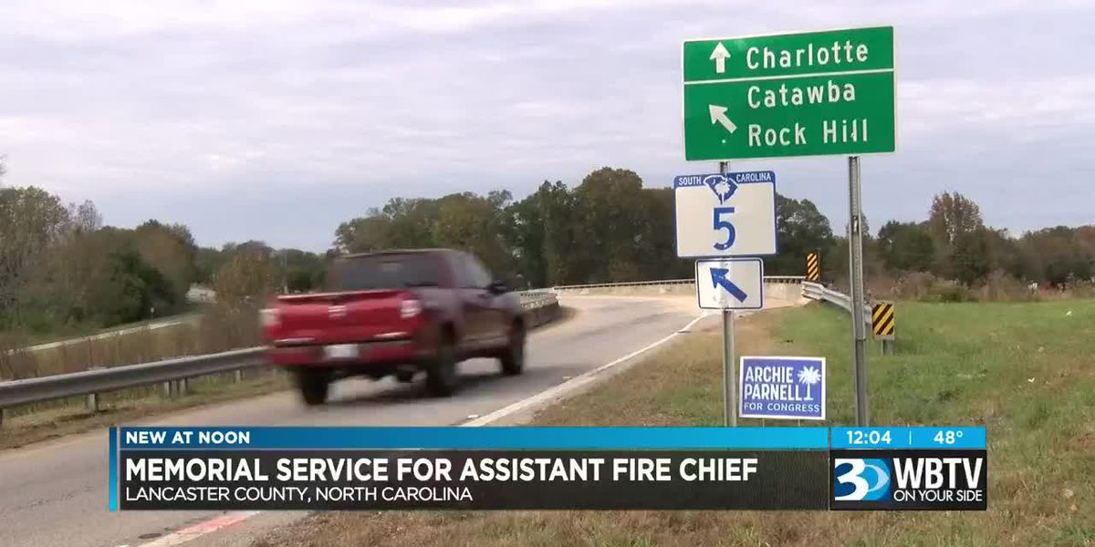 Memorial service for assistant fire chief