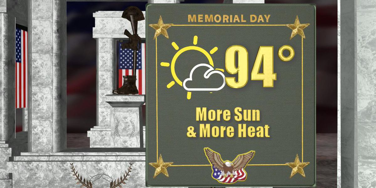 Memorial Day Forecast: The heat wave continues