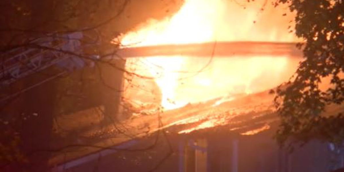 15 families displaced after large south Charlotte apartment fire