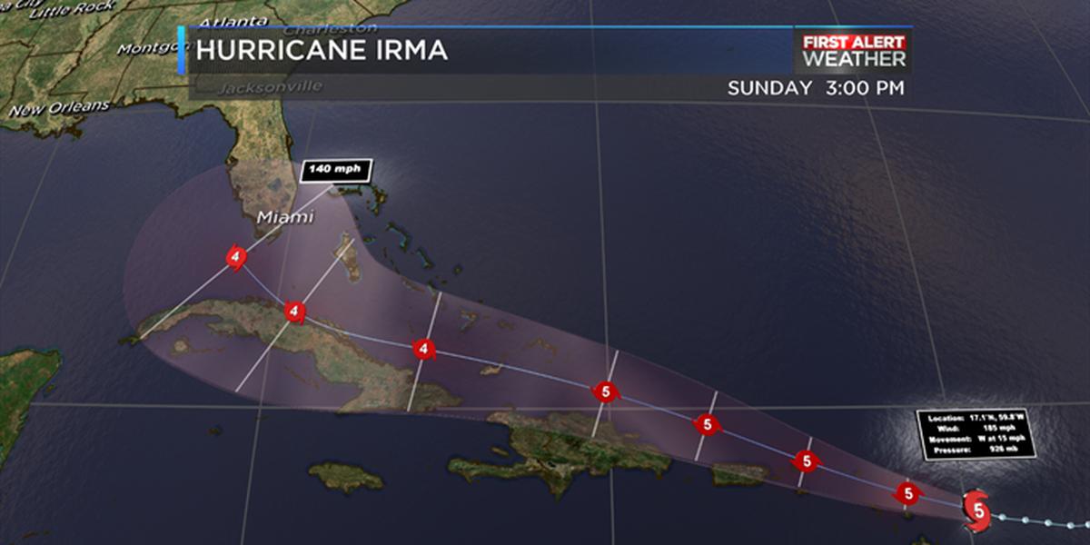 FIRST ALERT: Hurricane Irma pushing towards northern Leeward Islands