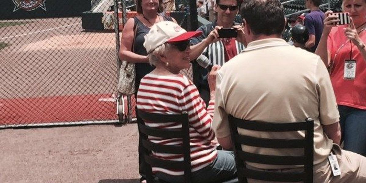 92-year-old marathon runner honored at Knights game