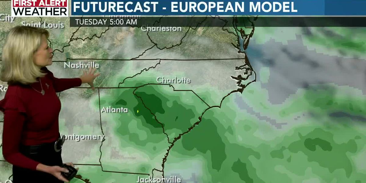 WBTV Tuesday morning weather forecast