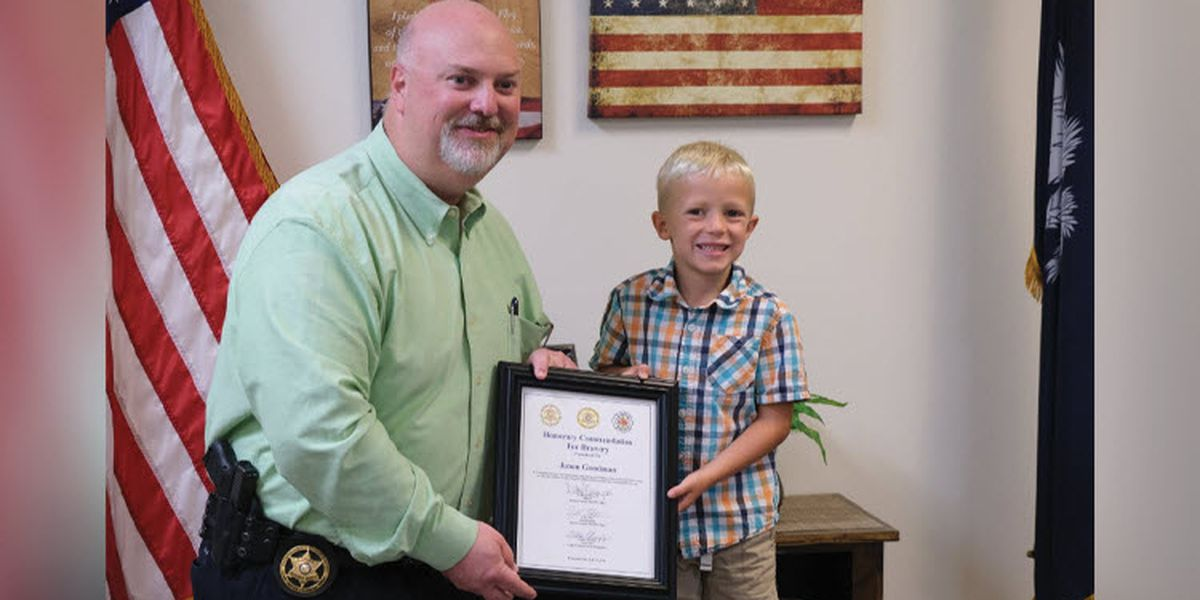 5-year-old S.C. hero honored for saving dad during medical emergency