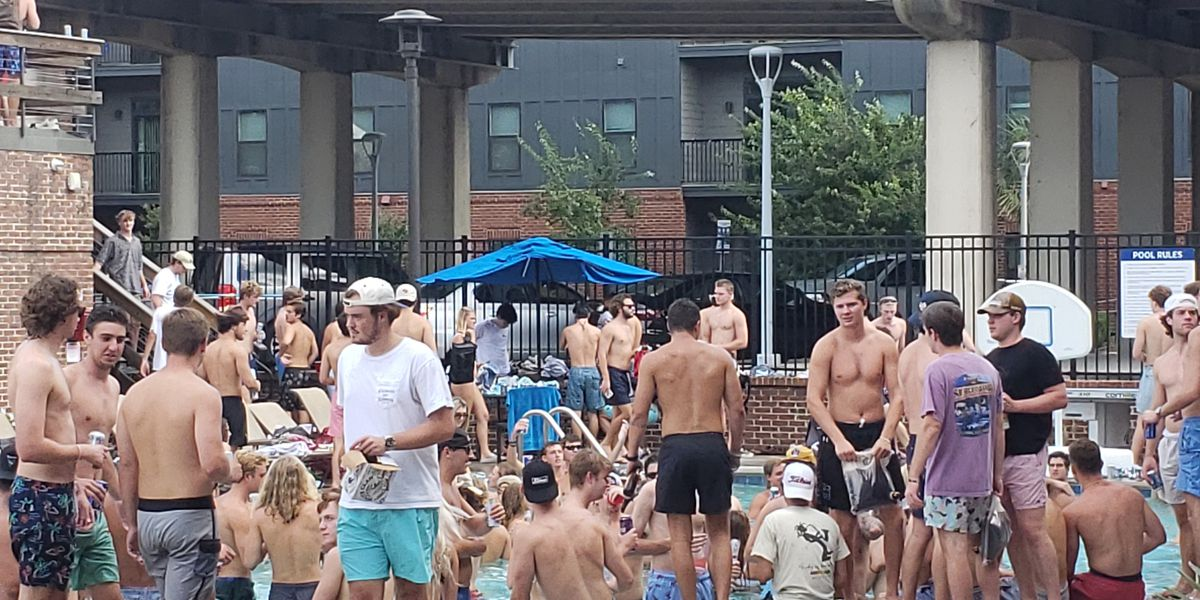 Officials shut down packed pool party at Palmetto Compress after complaint over no masks, social distancing