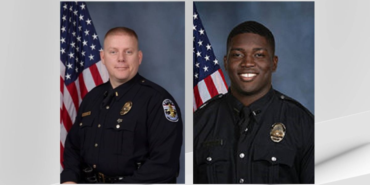 Officers shot in downtown Louisville identified