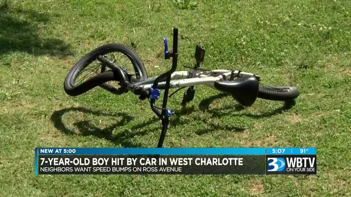 7-year-old boy hit by car while riding bike, suffers broken hip and leg bones, family says