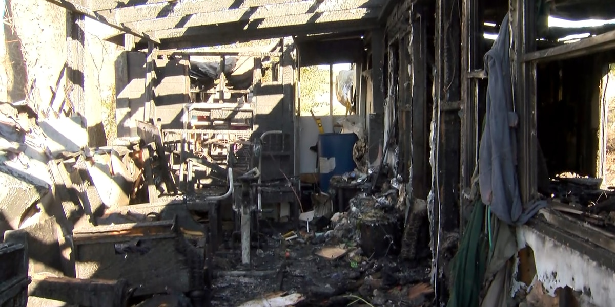 91-year-old woman, son escape burning home in Long View
