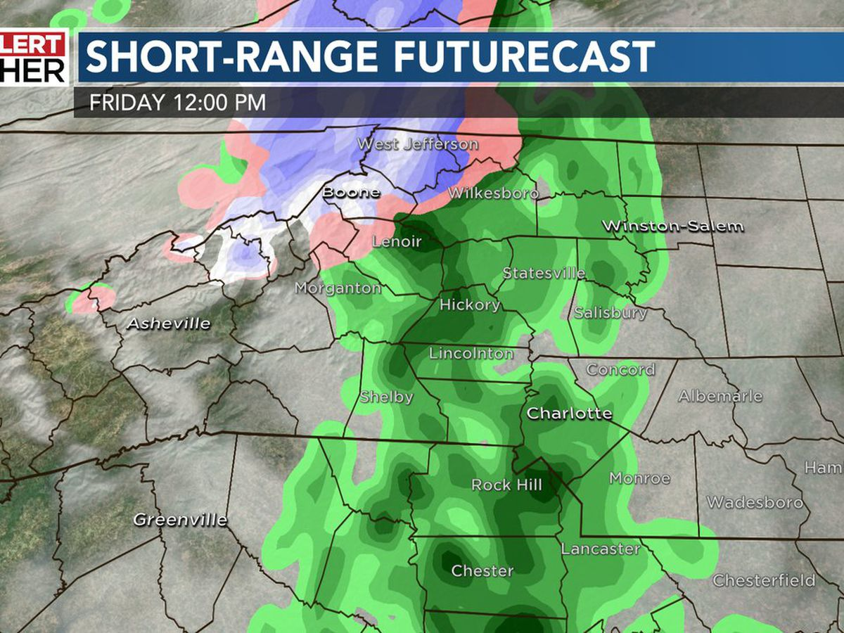First Alert: Showers moving in, mountain snow develops