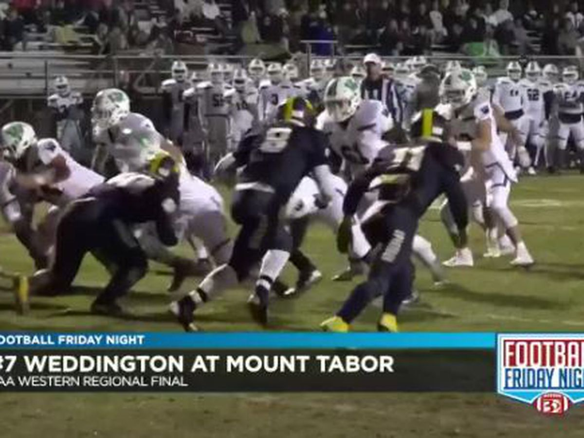Weddington beats Mount Tabor to win the 3AA Western Regional Final