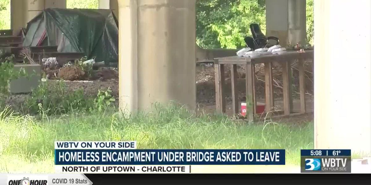 Homeless encampment required to vacate from underneath NCDOT property north of uptown