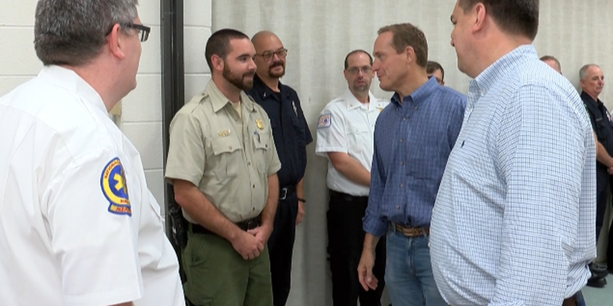Two US Congressman crossed paths in Rowan County as they each toured areas affected by Florence this weekend.