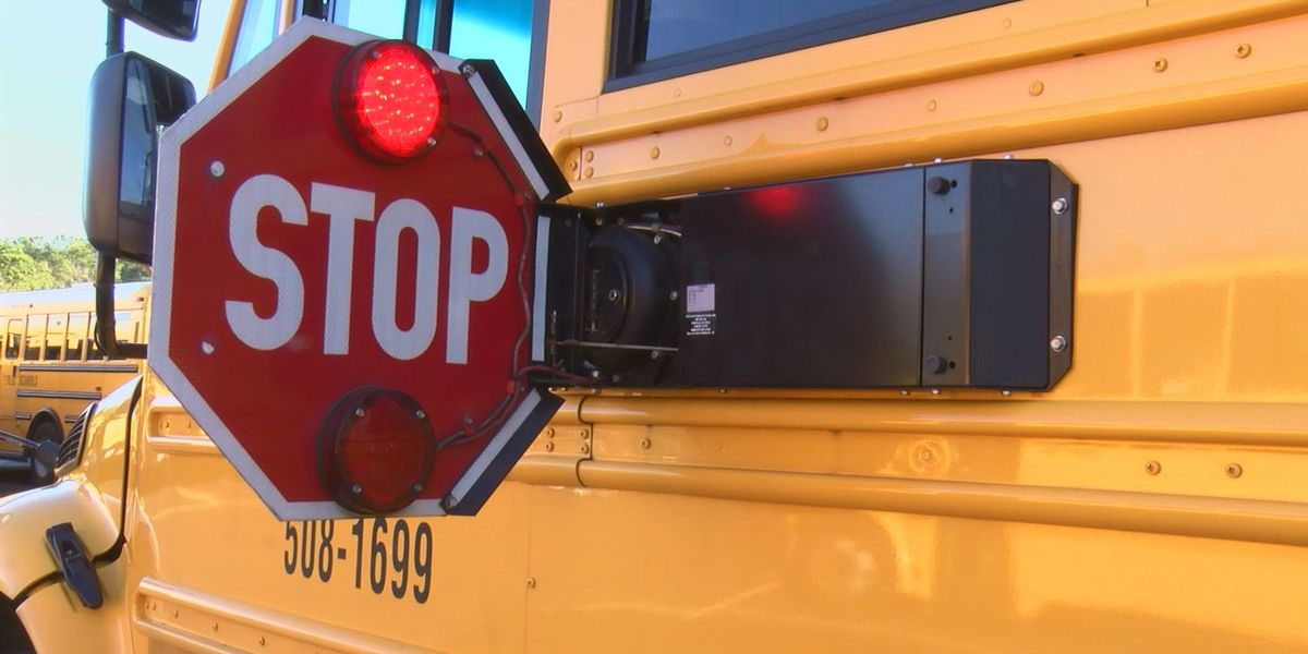 'Please stop. These are people's children': Bus drivers fed up with motorists zooming past bus stop arm sign