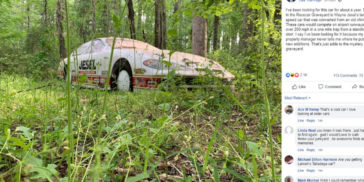 Dale Earnhardt Jr. admits it took a year to find a race car lost on his own property