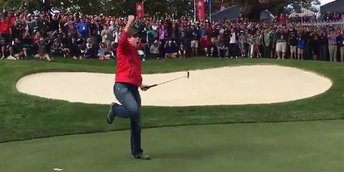Heckler shines during Ryder Cup practice round